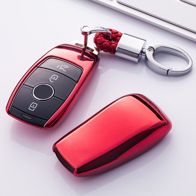 Wear Resistant Soft Tpu Car Key Cover Case Shell Bag Protective Key Ring For Mercedes Benz 2017 E Class W213 2018 S Class New