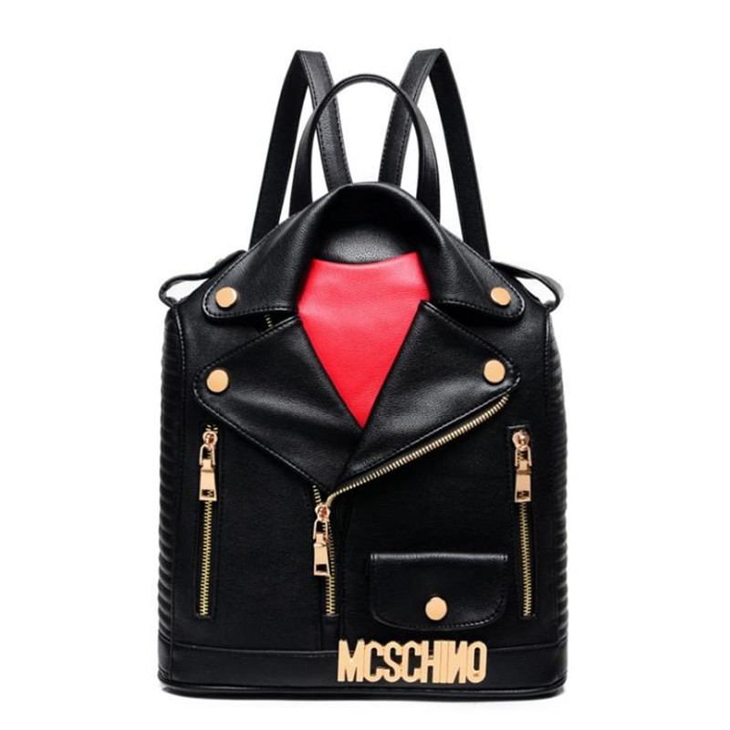 2018 Fashion Unique Clothes Design PU Women Leather BackpackS Female Travel Shoulder bag Women School Bag Hot Sale LJ430