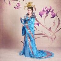 Новые Древние китайские танцевальные костюмы женские hanfu традиционный костюм в стиле династии Тан костюм платье