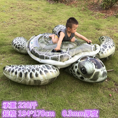 Inflatable Tortoise Kid's Beach Animal Shape Outdoor Swim Ring Pool Toy Summer Ride-on Floating Boat Mat Toys super funny elephant shape inflatable games kids slide toy for outdoor