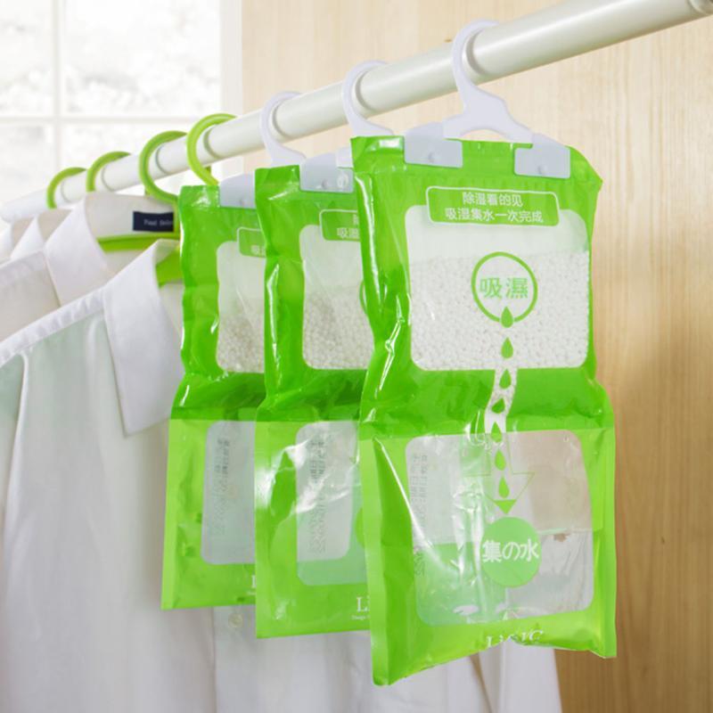 Moisture Absorbent Bag Hanging Wardrobe Closet bathroom Dehumidizer Desiccant Bag Household Cleaning Tools E5M1