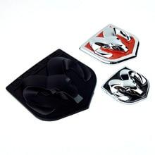 3D Car Head Grill Tailgate Stickers Metal Emblem Refitting Chrome Badge Sticker Ram head For Dodge Caliber