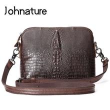 Новинка, винтажная сумка из натуральной кожи аллигатора, жесткая воловья кожа, маленькие сумки на плечо и через плечо, женские сумки-мессенджеры