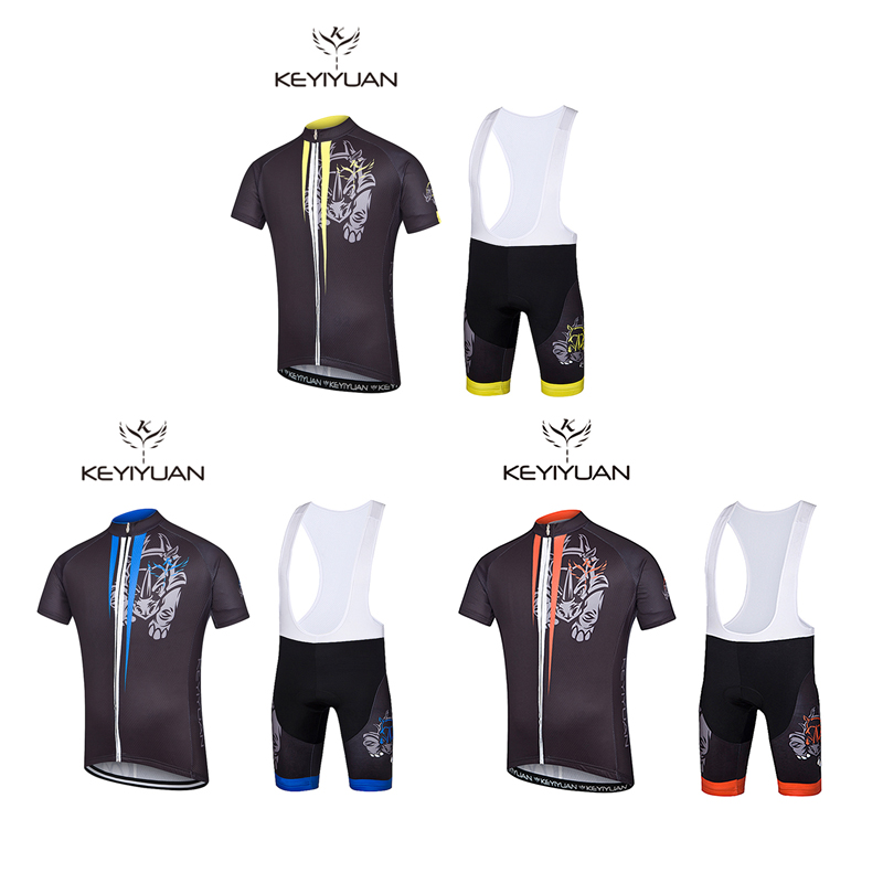 KEYIYUAN 2018 new autumn and winter cycling sweatshirt suit breathable three-dimensional pants mountain outdoor equipment