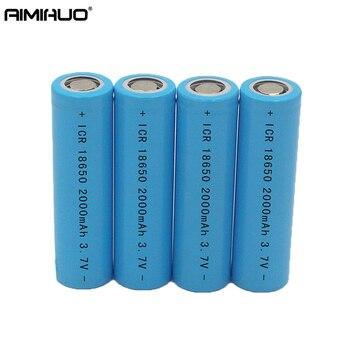 AIMIHUO 18650 3.7V 2000mAh Li-ion Rechargeable Battery For Flashlight Headlight Lantern Lithium ion 3.7V 18650 Battery Batteries