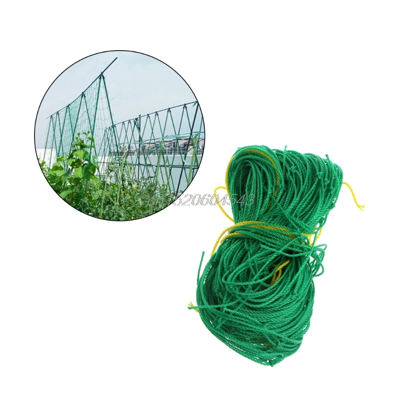 Garden Green Nylon Trellis Netting Support Climbing Bean Plant Nets Grow Fence 1.8m*1.8m R02 Whosale&DropShip