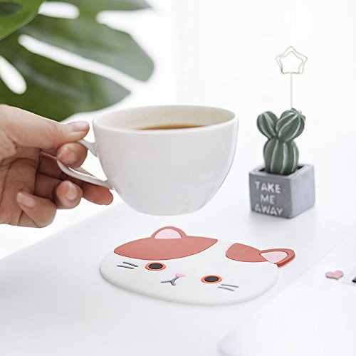 6PCS Alloy Coffee Cup Mats Tea Drink Coaster Insulation Pads Ornaments Home Bar