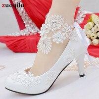 ddaebf9f53 White Wedding Shoes Bride Crystal High Heels Female Shoes Woman 2019 Pumps  Women Shoes Chaussure Femme