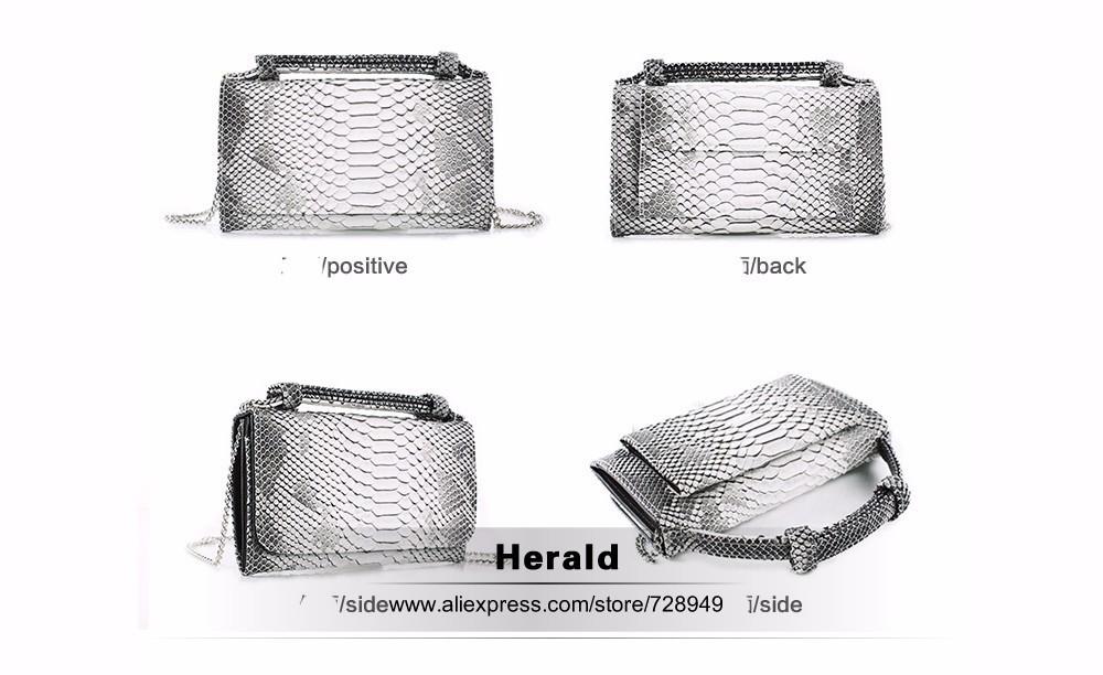 Crocodile Leather Pattern Women Bag Genuine Leather Wallet Clutch Purse Alligator Stylish Chain Women Messenger Bag Shoulder Bag 10