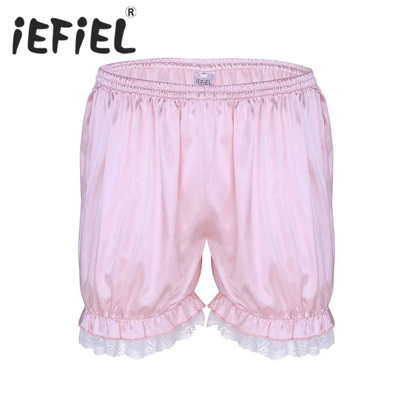 New Arrival Fashion Comfortable Mens Male Lace Bloomers Knickers Shorts Panties Casual Summer Shorts Lounge Jogger Short Pants