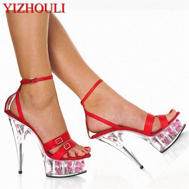 2018 Fashion shoes 15cm High Heels Hot Womens platform sandals rome flower sexy Crystal shoes2018 Fashion shoes 15cm High Heels Hot Womens platform sandals rome flower sexy Crystal shoes