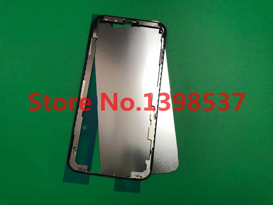 50 قطعة/الوحدة الإطار الأوسط مع 3 متر لاصق و رقائق حديدية ل فون X 10 منتصف الإطار الهيكل مدي شاشة تعمل باللمس LCD