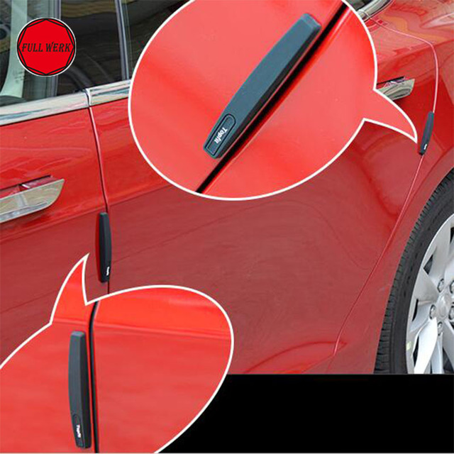Car Door Side Edge Anti Scratch Strip Bumper Protector Guard Cover Tesla Accessories Pack of 4 pcs