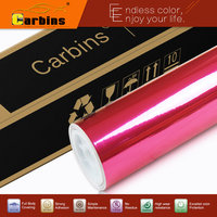 Carbins High Stretchable Chrome Vinyl Wrap For Cars Styling Rose Color 1 52 20m