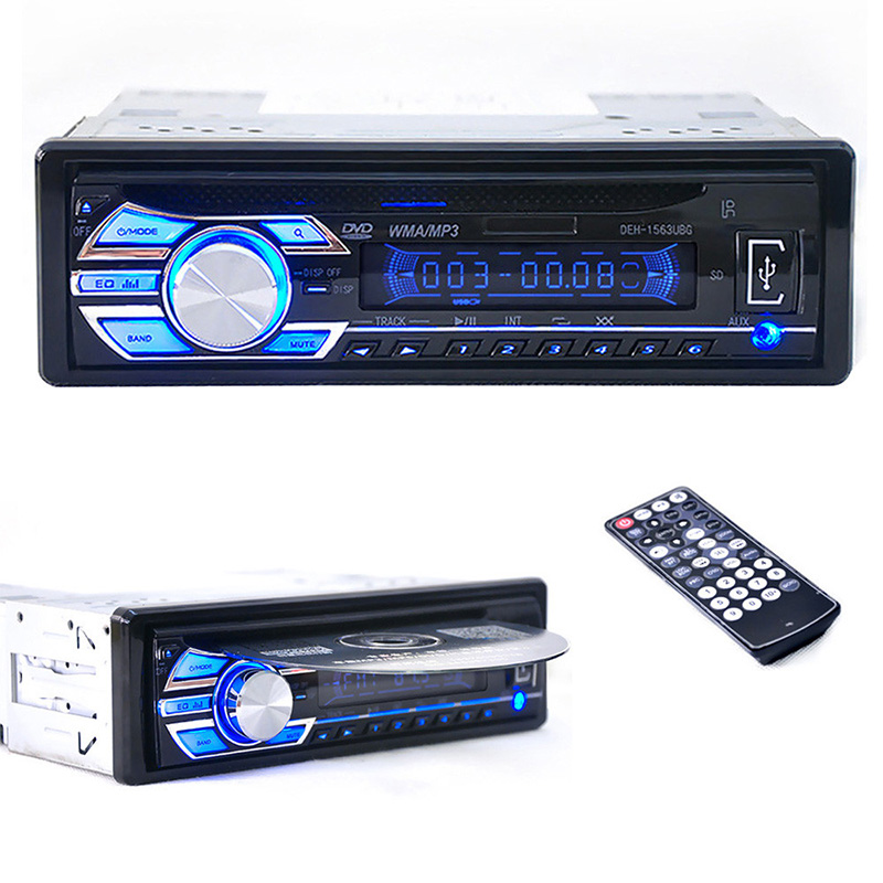 New Hot Universal Car Audio Stereo In-Dash DVD CD MP3 Radio Player SD Input AUX FM Receiver Car Interior Electronics Accessories niorfnio portable 0 6w fm transmitter mp3 broadcast radio transmitter for car meeting tour guide y4409b