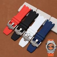 TJP 28MM Blue Black Red White Waterproof Rubber Watchband Men S Sports Watch Strap For AP