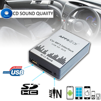 Car Radio USB SD AUX Adapter Mp3 Digital Music Changer Interface for Volkswagen Jetta 1999 2002 [8 Pin Connector]