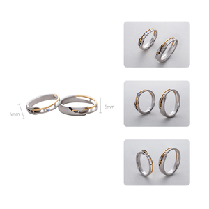 Image 4 - Thaya Train Rail Design Moonstone Lover Rings Gold and Hollow 925 Silver Eleglant Jewelry for Women Gemstone Sweet Gift
