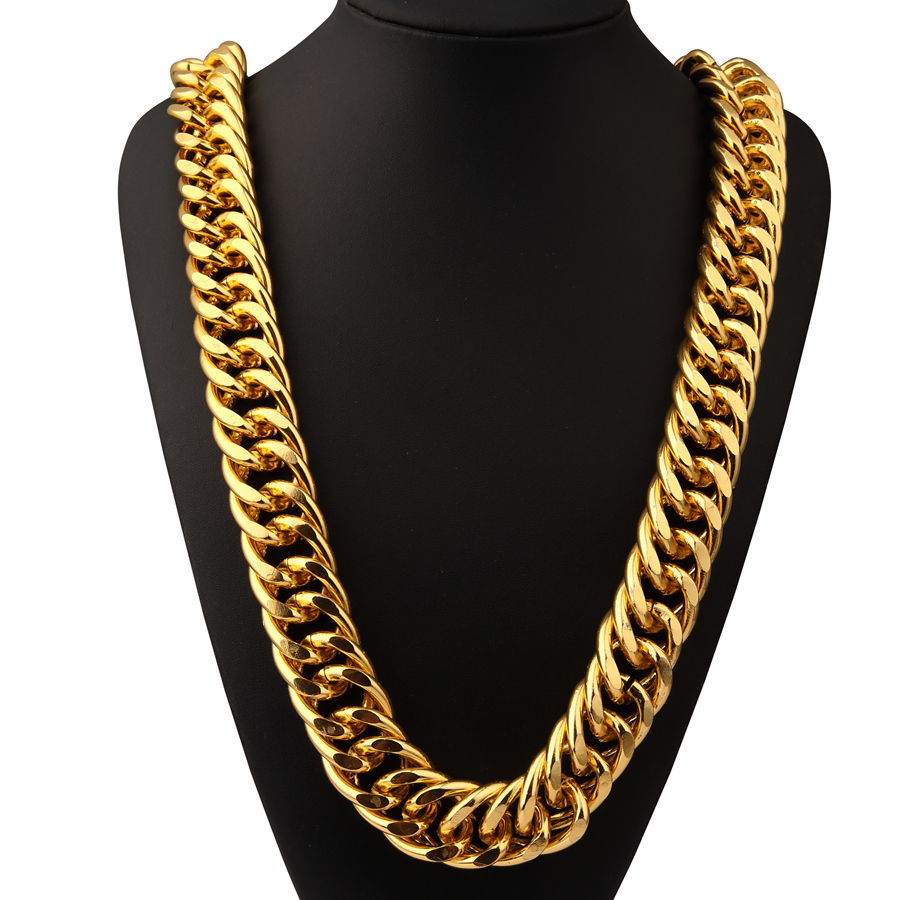 Fashion Hip Hop Chains for Men Cuban Link Chains Gift DJ Style Jewlery Iced Out Long Bling big Necklace exaggera