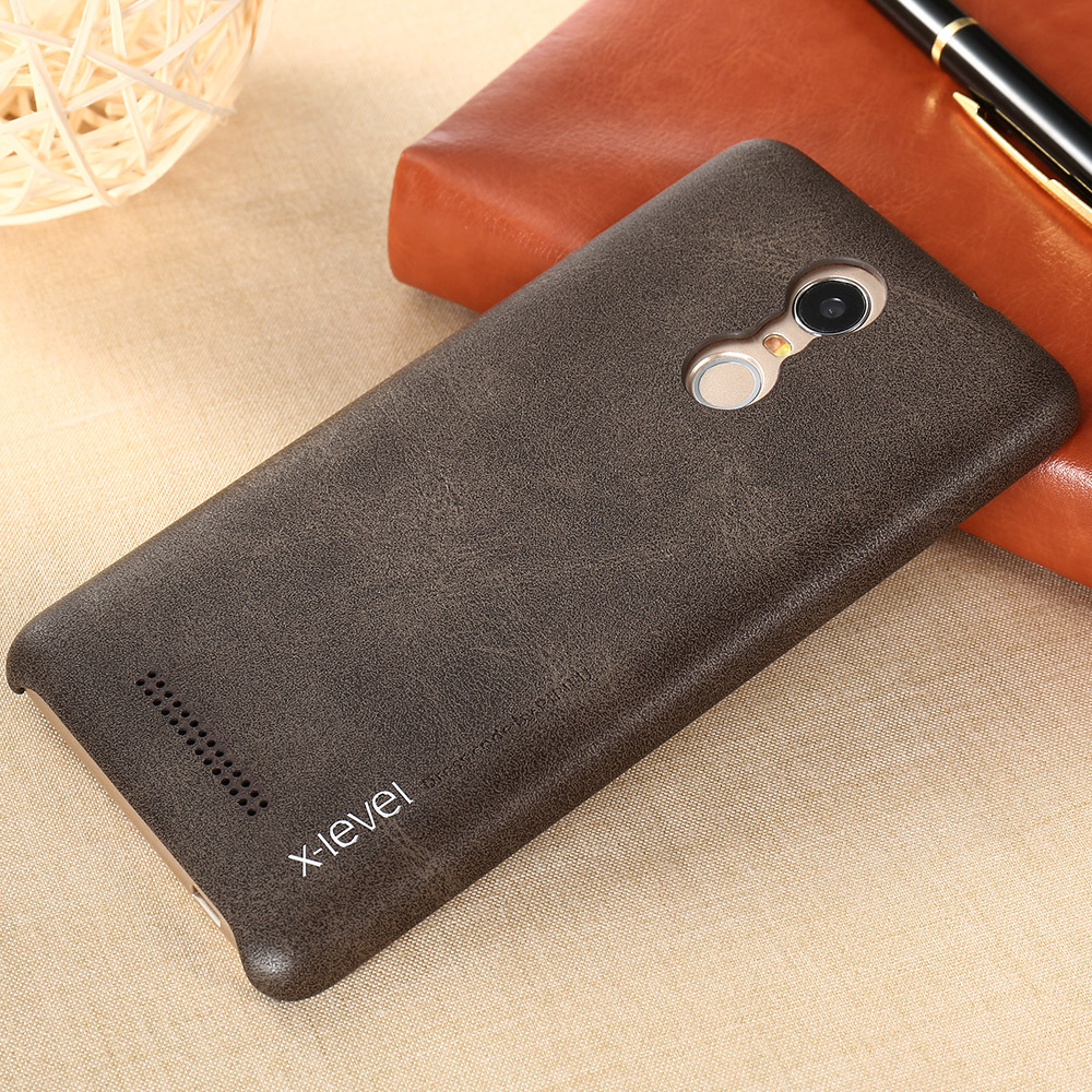 b5c881c897 Free Shipping X level Luxury Vintage PU Leather Phone case for Xiaomi redmi  note 3 Back cover case for redmi note 4-in Fitted Cases from Cellphones ...