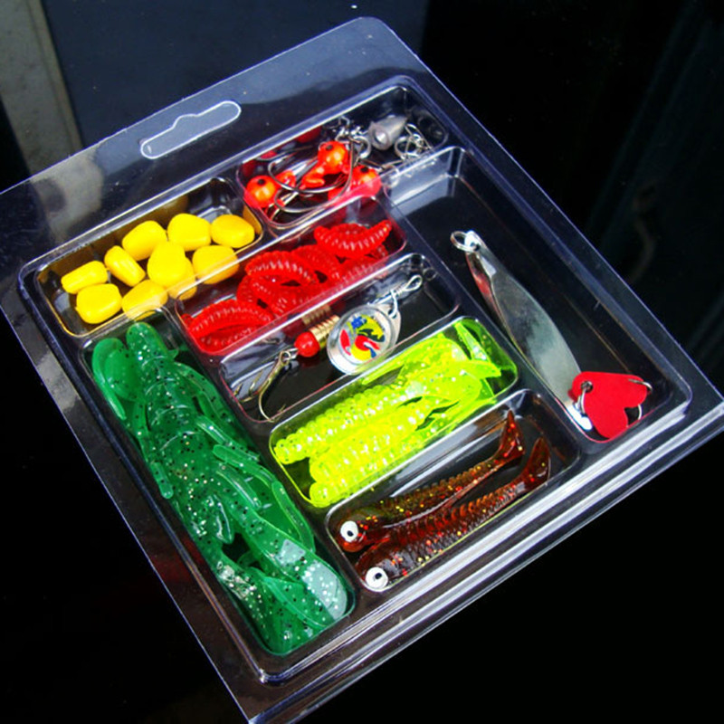 Soft Worm Lure Lure Set Head Jig Hooks Fishing Baits Set Tackle hot September5 ...