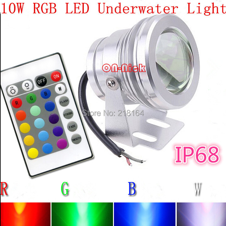 10w 12v Rgb Led Underwater Light Pool Light Led Underwater Lamp With 24keys Remote To Ensure A Like-New Appearance Indefinably