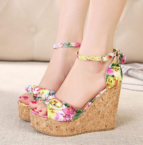 Ladies footwear wedges