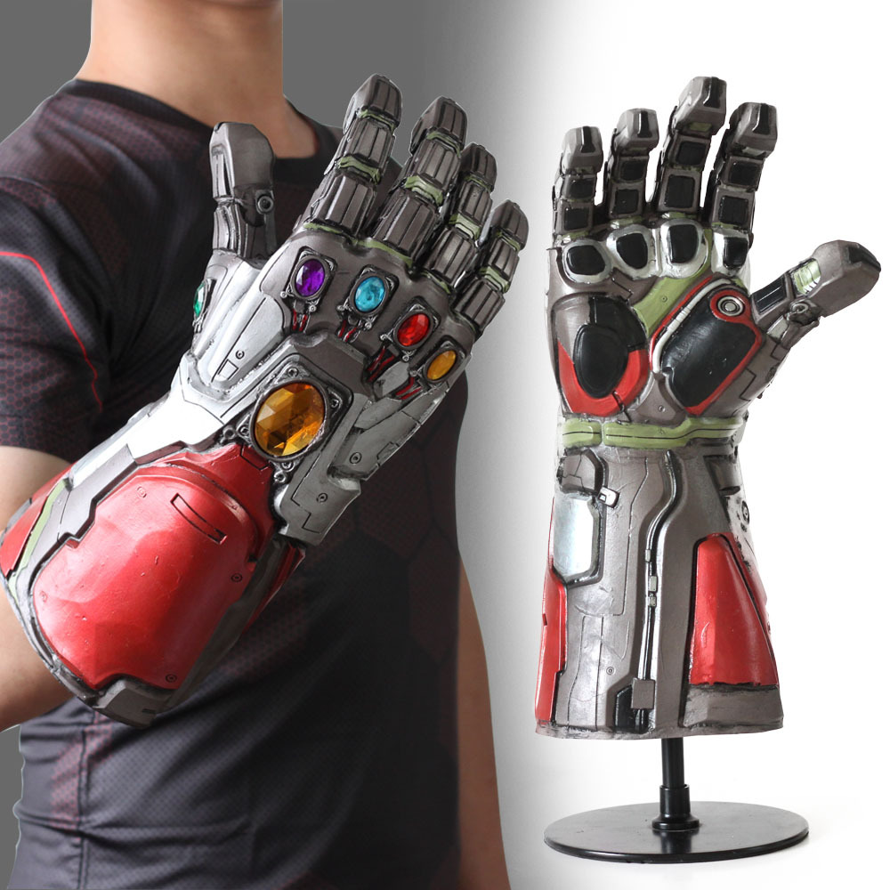 avengers endgame iron man infinity gauntlet  Thanos Iron Man Hulk Infinity Gauntlet Cosplay Gloves Infinity Stone Accessory Prop Браслет