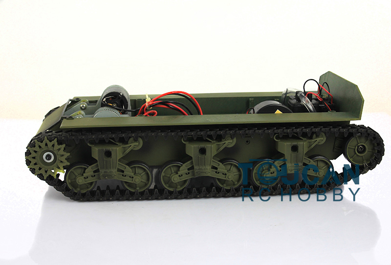 HengLong 1/16 Scale USA M4A3 Sherman RC Tank 3898 Plastic Chassis Tracks Wheels mato sherman tracks 1 16 1 16 t74 metal tracks