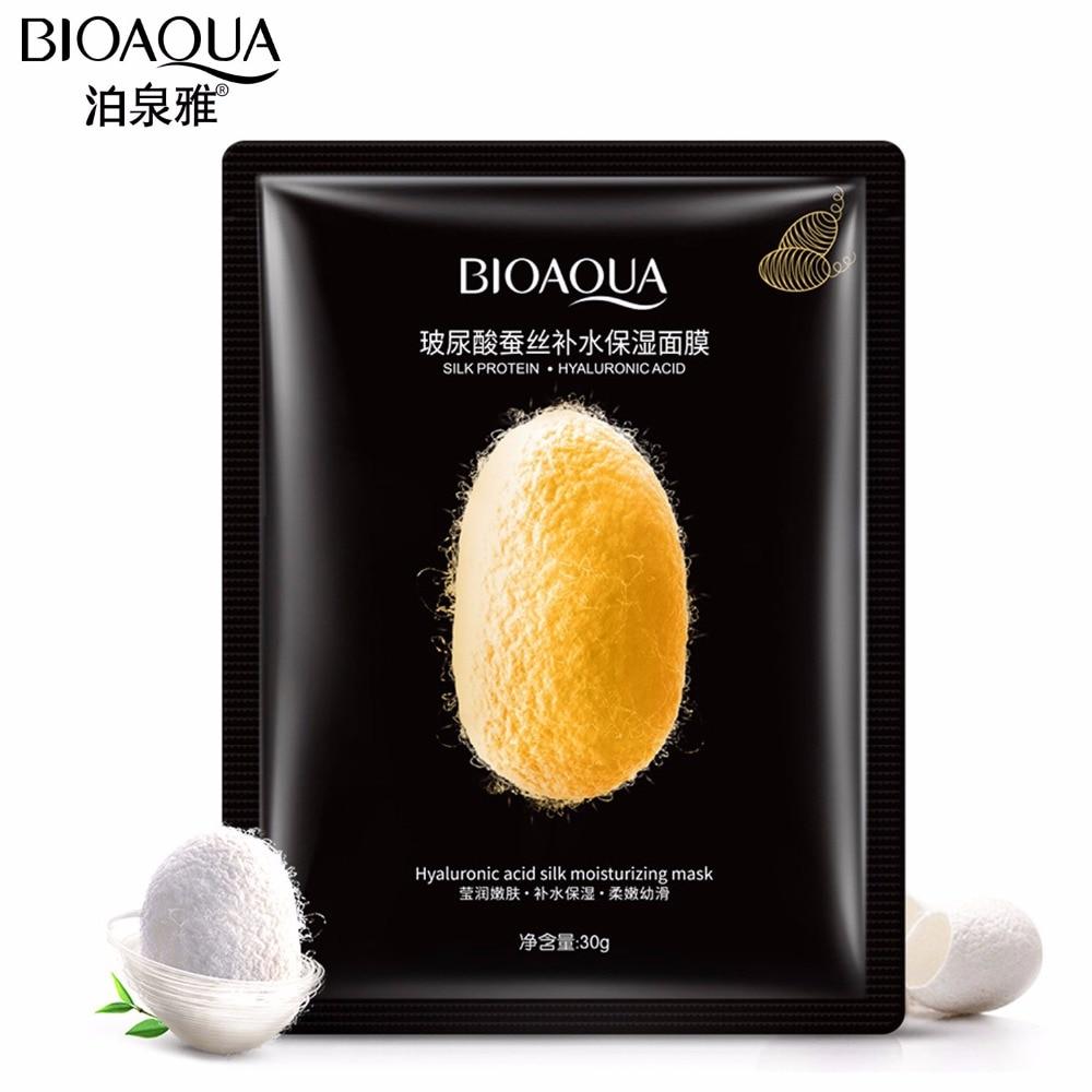 BIOAQUA Hyaluronic Acid Hydrating Moisturizing Mask Whitening Anti Aging Firming Lift Skin Care Scar Acne Treatment Face Mask