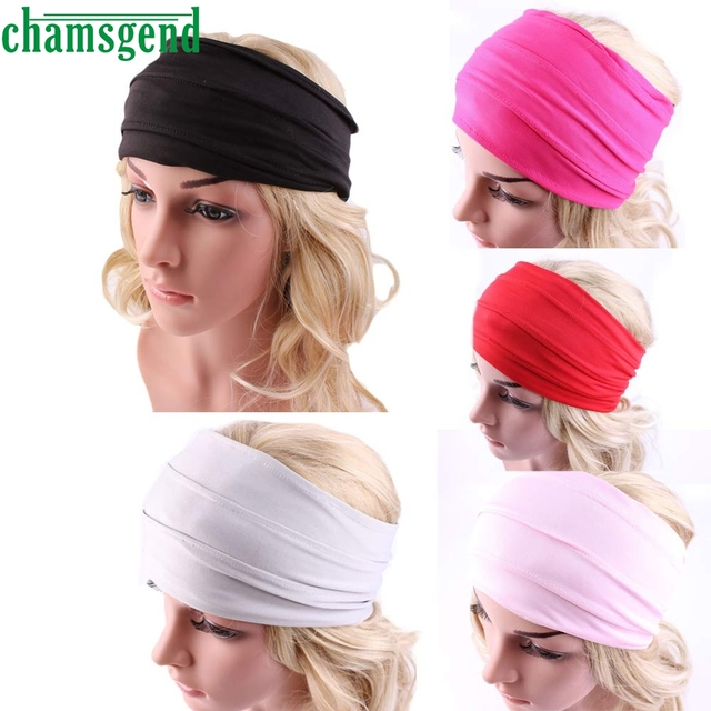 Gym fitness Headbands For Women Winter Sports Headband Head Wrap Wide Yoga  Hairband Hair Accessories Nonslip Head band JAN13YP e1b98f327