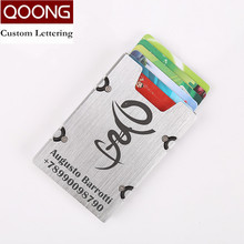 QOONG New Arrival Metal Credit Card ID Holder Fashion Mini Money Holder With RFID Anti-chief Wallet Credit Card Case KH1-019S 2019 new card holder new metal id credit card holder anti rfid wallet business card holder wallet for credit cards case