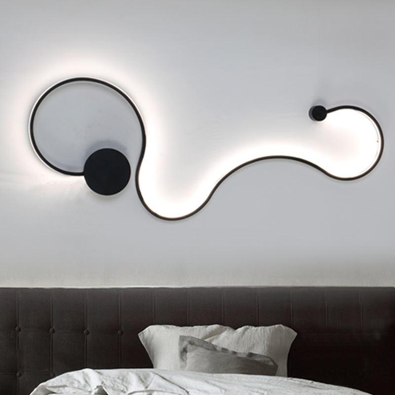 Modern creative snake shape wall lamps bedroom corridor hotel indoor wall lighting fixtures 90-260V led wall light Free Shipping
