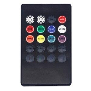Image 4 - Capteur vocal musical, 20 touches, télécommande son, infrarouge, pratique pour fête à la maison, RGB 3528, 5050, LED, bande de lumière