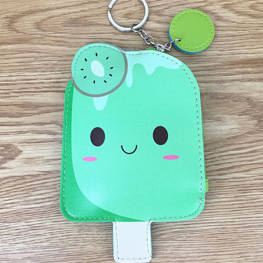 M236 New Product Sale Women Purses Sweet Fruit Popsicle Series Of Other PU Leather Wallet Bus Card Bag Key Buckle Strap best new product on sale 30
