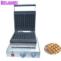 BEIJAMEI Hot Sale Commercial Waffle Maker Machine Electric Square Waffle Making Waffle Iron Maker Price|Waffle Makers|Home Appliances -