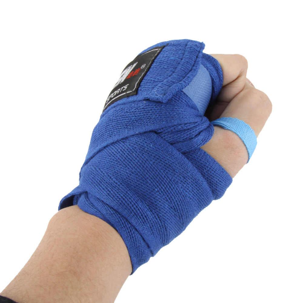 1 pçs luva de boxe esportes de algodão cinta boxe bandagem sanda muay thai mma taekwondo mão luvas envoltórios proteção