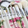 FLOR color de rosa cepillo Cosmético 12 Unids Fundación Pinceles de Maquillaje Profesional de Alta Calidad compone el Kit de Herramientas/lleno de Feminidad