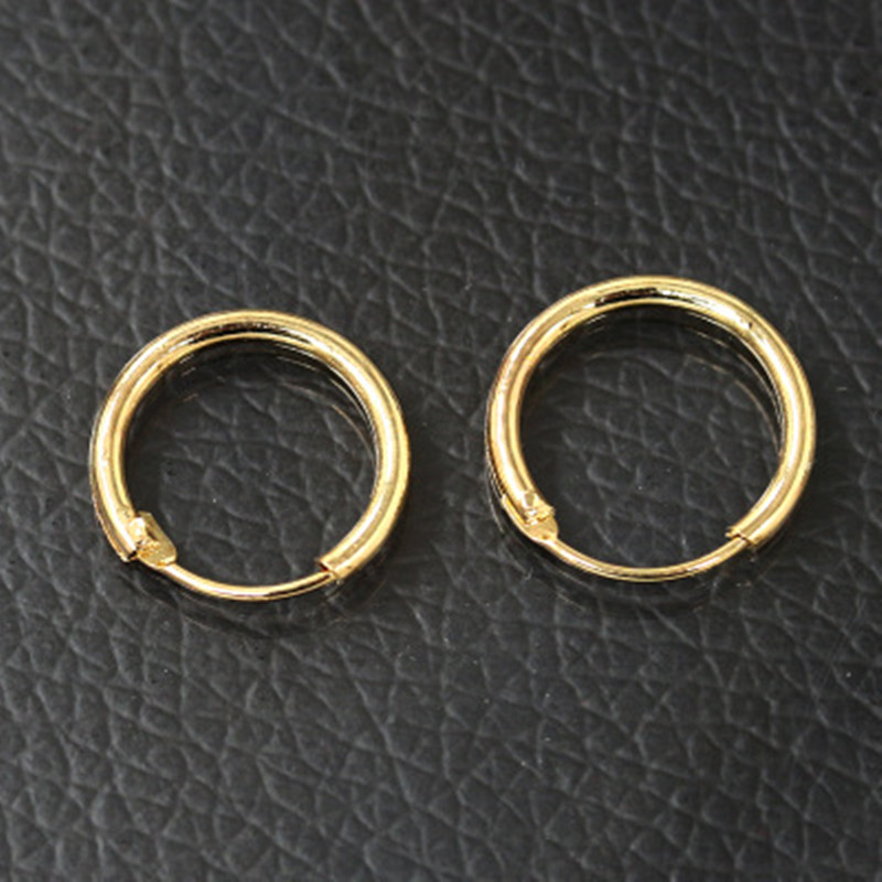 1 Pair Korean Simple Small Round Hoop Earrings For Women Men Punk Gold Silver Color 10 12 15mm Mini Circle Jewelry E485 In From