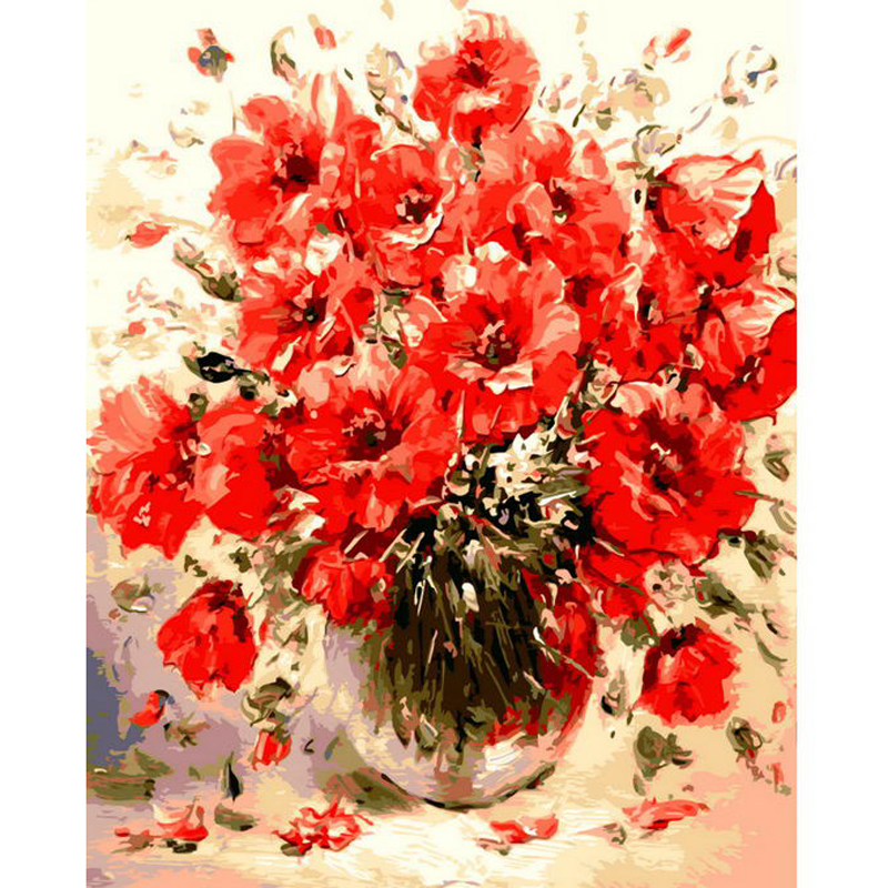 Online Shop 1PC DIY Oil Painting By Numbers Abstract Red Flowers Wall  Pictures For Living Room Vintage Home Decor Coloring By Numbers |  Aliexpress Mobile