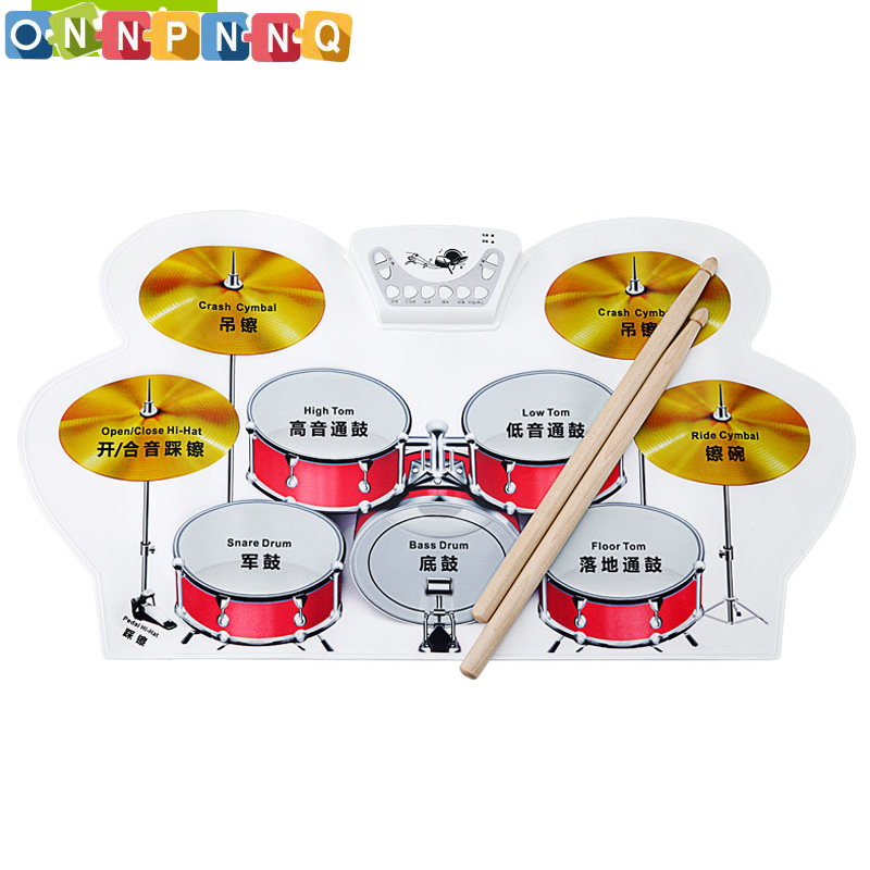 W1008 Kids Instruments Musical Toys Electronic  Music Instruments For Kids  Baby Kids Musical Educational Child Music  Drum Kit