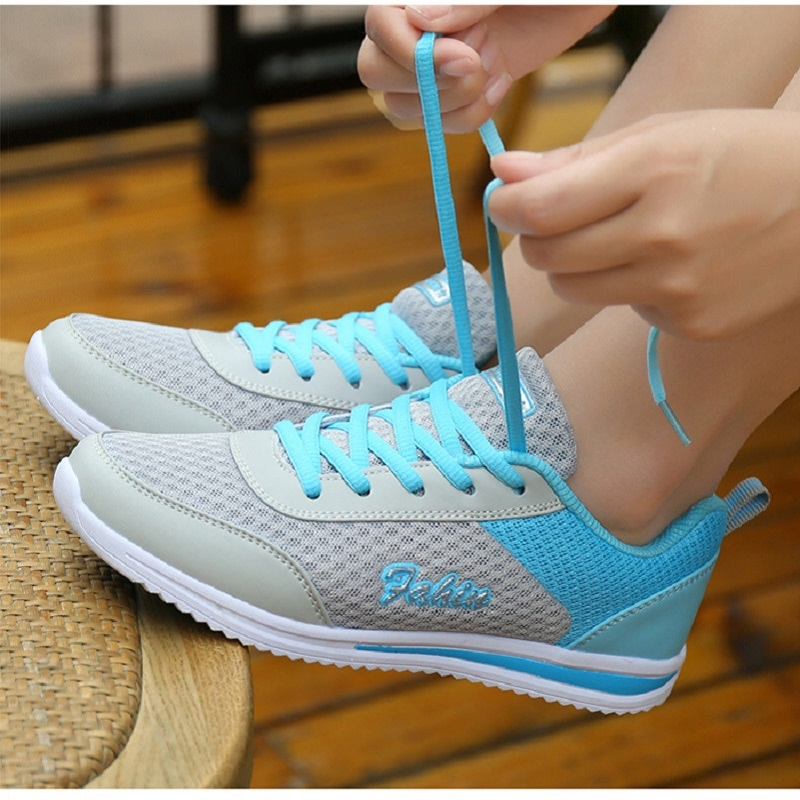 2019 Casual Shoes Woman White Women Sneaker Breathable Mesh Female Fashion Sneakers Women Chunky Sneakers Shoes Sapato Feminino