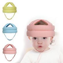 Детская губчатая головная Защитная детская безопасная Кепка для детей ясельного возраста, кепка для обучения ходьбе, защитный шлем для детей, для ползания, для предотвращения столкновений