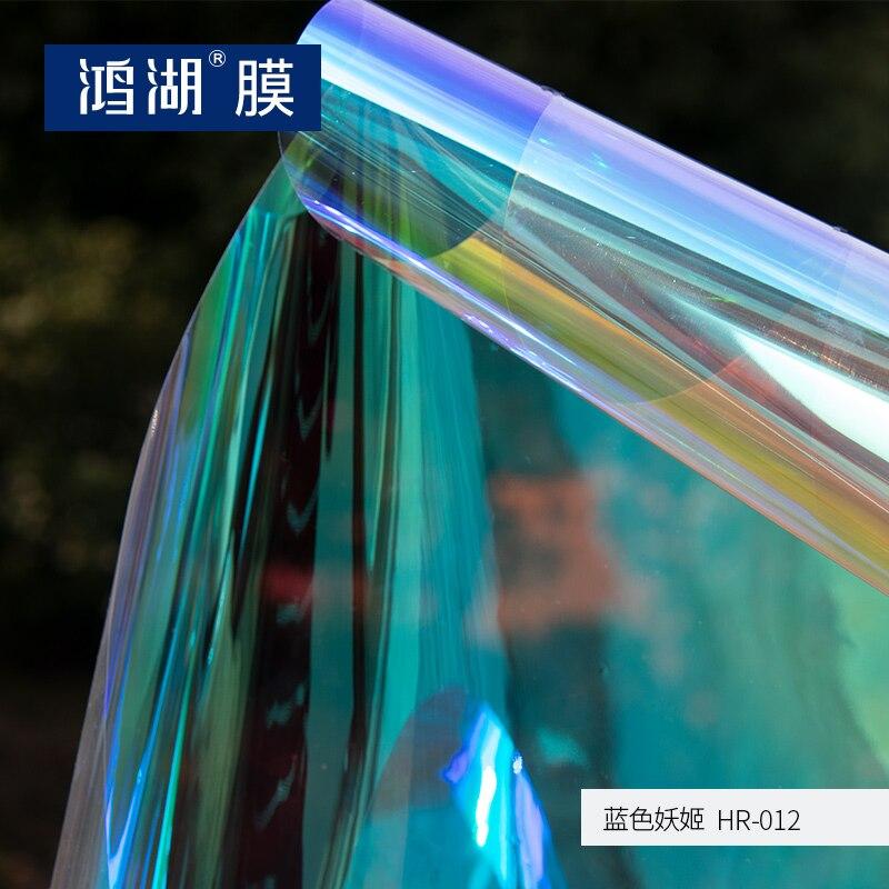 Matière première auto-adhésif irisé film dichroïque pour panneaux acryliques film arc-en-ciel en adhésif 1.37 m x 8 m offre spéciale