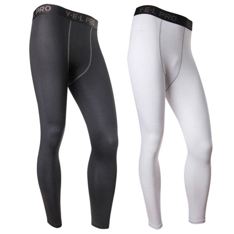 2018 Men Compression Hosen Casual Strumpfhosen Solid Black Hosen Bodybuilding Mans Hohe Elastizität Jogger Crossfit Dünne Gamaschen