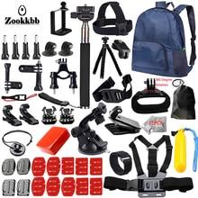 Zookkbb For all Gopro Accessories set for go pro hero 5 4 3 kit mount for SJCAM SJ4000 / xiaomi yi camera / eken h9 tripod 14L