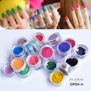 Image 5 - Nail flocage velours poudre poussière cachemire Nail Art nouveau 24 boîtes, toutes 24 couleurs pour 3.5 $ ongles flocage velours poudre poussière cachemire