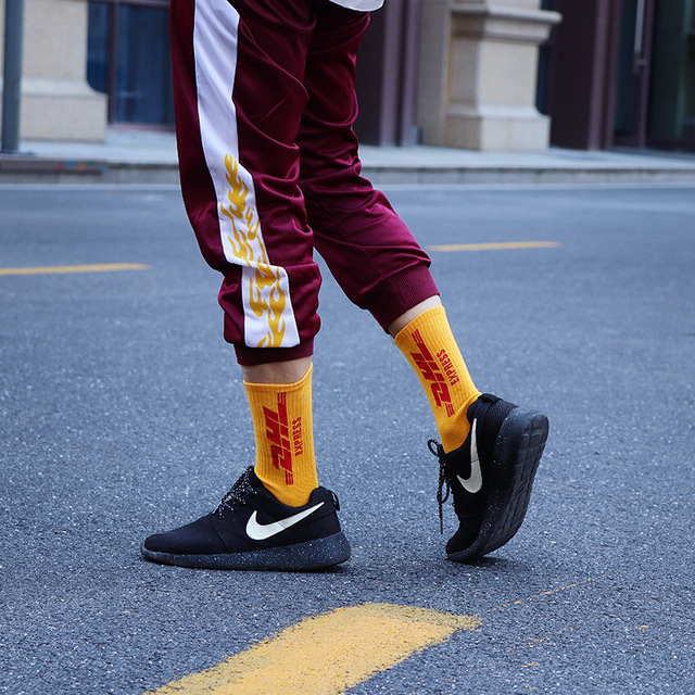 Hot DHL express Socks Cool Creative Men Cotton Crew Socks Hip Hop Fashion Women Socks Unisex New Trend Novelty Socks