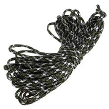 Super venta 7 Cuerda Paracord Cuerda Del Paracaídas militar Supervivencia Que Acampa Resistente Color: Camo (1) Longitud: 15 M