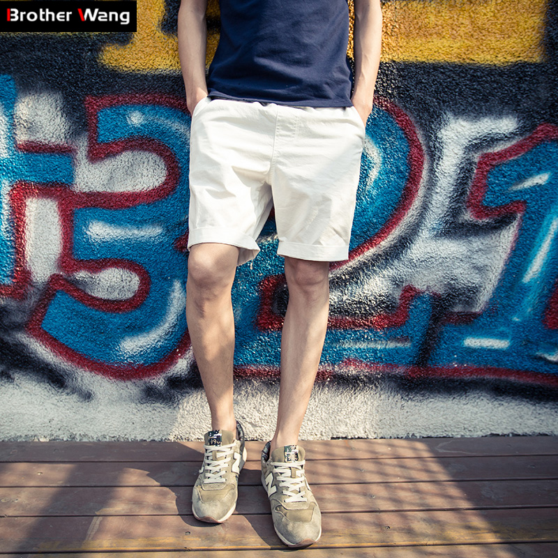 2017 new fashion men s shorts Fashion solid color large size casual shorts Slim Optional collocation